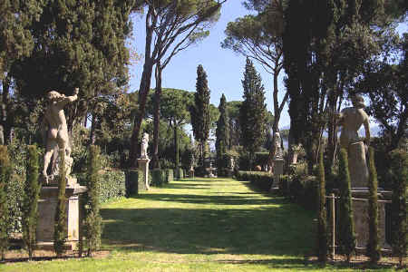 One of the prospects of the garden at Villa La Pietra